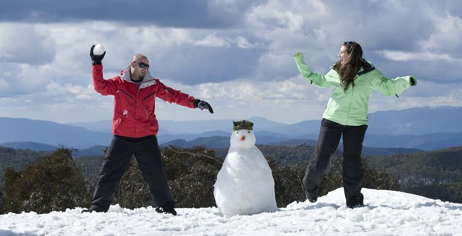 Melbourne Snow TOurs Mt Buller Snowman