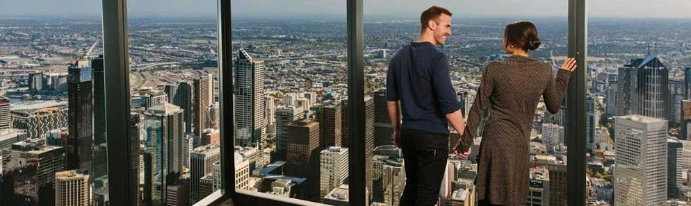Climbing the Eureka Tower in Melbourne