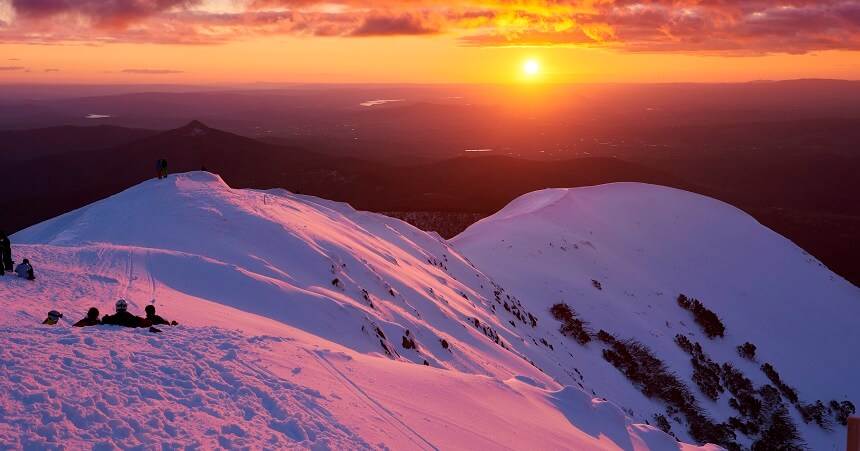 Mount Buller Return on a different day tour Sunset views from Summit